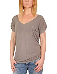 Ella Manue Frauen V-Ausschnitt Pocket Tee Shirt Mathilda