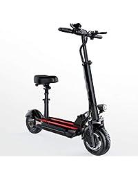 """LILIJIA Bicicletas Eléctricas Montaña Aleación Magnesio para Todo Terreno para Adultos, Bicicleta Batería Iones Litio Alta Capacidad 10""""36V / 400W, para Ciclismo Al Aire Libre"""