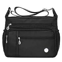 Tomepeia Women's Multi-Pocket Casual Crossbody Handbags Waterproof Shoulder Nylon Bags