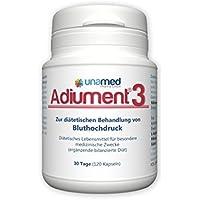 Adiument® 3 - MADE IN GERMANY I diätetische Kapseln zur Behandlung von Bluthochdruck I natürlicher Blutdrucksenker... preisvergleich bei fajdalomcsillapitas.eu