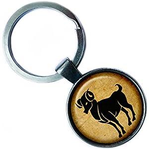 Zodiac Aries Tierkreis Widder Silver Keychain Silber Schlüsselanhänger