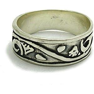 Sterling silber ring band 925 Empress Größe 46 - 75