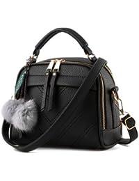 New Pu Leather Women Leather Handbag Hairball Women Messenger Bags Pouch Shoulder Crossbody Bags - B07B29FRMG