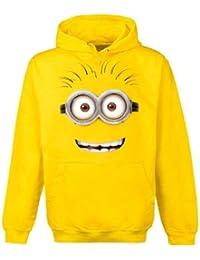 Gru 2, mi villano favorito - sudadera con capucha de minion de ojos saltones - algodón - amarilla - XXL