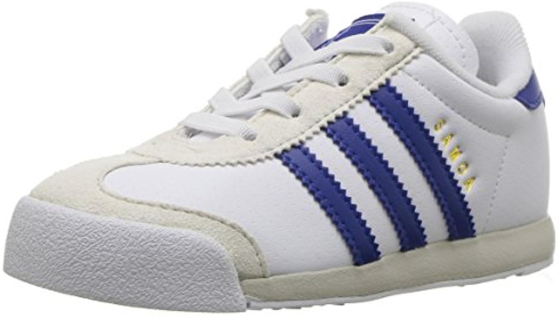 adidas Originals Boys' Samoa I I I Sneaker, White/Collegiate Royal/Talc, 6 Medium US Toddler b17d23