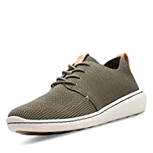 Clarks Men's Step Urban Mix Low-Top Sneakers, Green (Khaki -), 7.5 UK(41.5 EU)