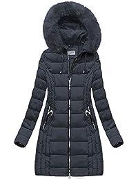 a5779d0a256a Goodlookin Damen Winter Jacke Warm Parka Winter Lang Mantel mit Kapuze  46-54 S