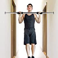 Honeytecs Adjustable Doorway Pull Up Bar Fitness Door Way Chin Up Horizontal Home Gym Exercise Fitness Workout Equipment 220 LB Bearing