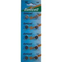 10 x Eunicell AG7 Alkaline button cell batteries - G7 LR57 LR57SW LR926 LR926SW SR926W L926E LR927 LR927SW 395 399