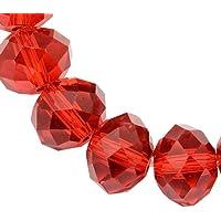 Glasperlen Würfel 4mm Rot AB 25stk Tschechische Kristall Perlen Schmuck X214