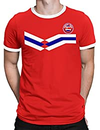 Tee Spirit Costa Rica Camiseta Para Hombre World Cup 2018 Fútbol New Style Retro
