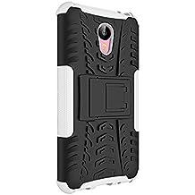 "Funda Duro Tapa Case Cover - TOOGOO(R)Para Meizu M2 Note(5.5""), Funda Carcasa Duro Tapa Case Cover con soporte (blanco) + Gratis aguja de la pantalla stylus universales"
