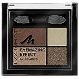 Manhattan Eyemazing Effect Oogschaduw – make-up-palet van vier glinsterende oogschaduwkleuren voor Smokey Eyes – kleur Browni
