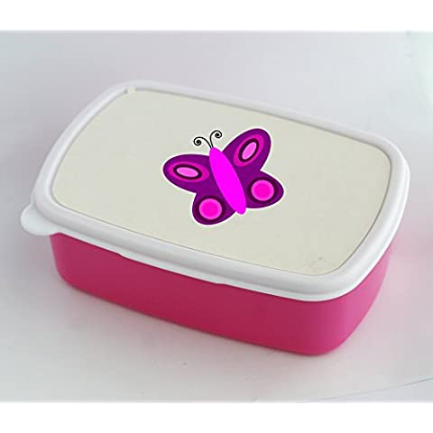 Lunch box with simple butterfly
