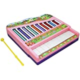 Ajmeri Xylophone Piano For Kids: Best Holiday/Birthday DIY Gift Idea For Your Mini Musicians, Musical Toy With Child Safe Mallets, 10 Key Scales In Clear And Crisp Tones