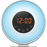 QQA Bedside Wecker, Sonnenaufgang & Sonnenuntergang Simulator USB LED Digitaluhr Wake up Licht FM Radio Touch... preisvergleich bei billige-tabletten.eu