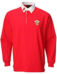 BABIES BOYS RED LONG SLEEVE RUGBY WELSH CYMRU RUGBY T-SHIRT TOP LONG SLEEVE