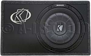 kicker tcvt124 30cm auto subwoofer extrem flach. Black Bedroom Furniture Sets. Home Design Ideas
