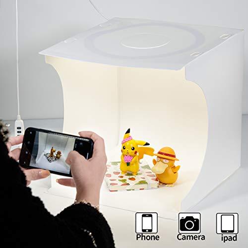 Fotolichtbox Tragbares Fotostudio Lichtzelt Schießzelt-Set Faltbares Kleinprodukt Schmuck-Fotokabinen-Set Weißer Soft Cube mit umschaltbaren...