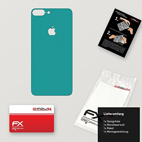 "Skin Apple iPhone 7 Plus ""FX-Wood-Root"" Designfolie Sticker FX-Soft-Turquoise"