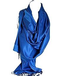 Double soie réversible bicolore Wrap Echarpe étole châle Hijab tête foulards db44c389701