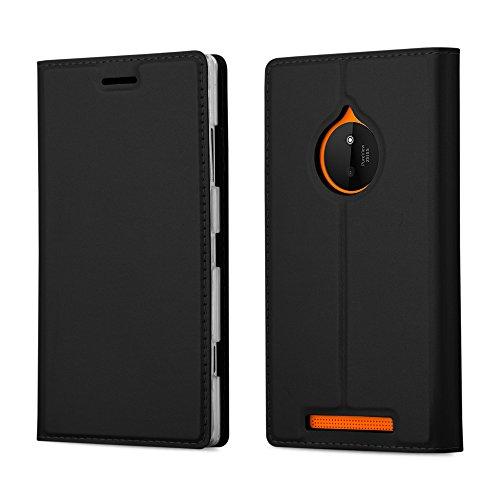 Cadorabo Coque pour Nokia Lumia 830 en Classy Noir - Housse Protection avec Fermoire Magnétique, Stand Horizontal et Fente Carte - Portefeuille Etui Poche Folio Case Cover