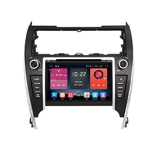 autosion in Dash Android 6.0 Auto DVD GPS Player Radio Head Unit GPS Navigation Stereo für Toyota Camry 2012 2013 2014 2015 unterstützt Bluetooth SD USB Radio OBD WIFI DVR 1080P (Gps Für Camry 2014)