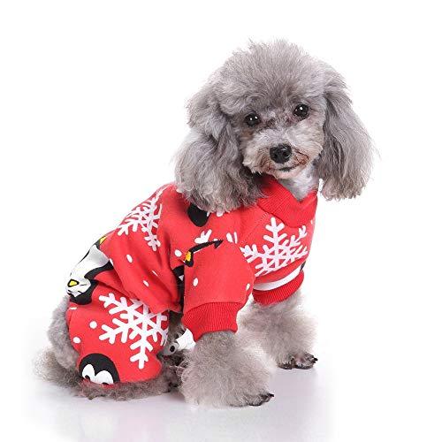 Kostüm Niedlichen Pinguin - RFVBNM Mode niedlichen Kleinen Haustier Hund Kleidung/Weihnachten Pinguin Muster/Weihnachten Halloween Kleidung Festival Kostüm, XL