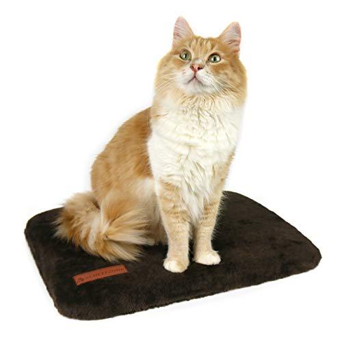 SCHLITZOHR Katzen Fensterbankliege Teddy | stabile Katzenliege für Fensterbank | Fensterliegeplatz für Katzen | 51 × 36 cm (braun)