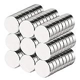 BUSATIA Neodym Magnete, 60 Stück Rund Extrem Stark Magnets, 10x3mm Mini Magneten für Magnettafel, Kühlschrank, Whiteboard, Magnetboard, Pinnwand, inkl. Aufbewahrungs Box (60pcs)