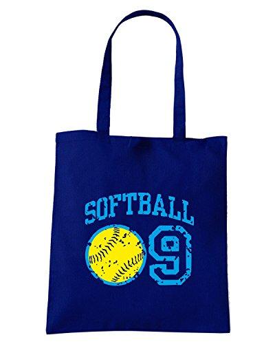 T-Shirtshock - Borsa Shopping OLDENG00361 softball 09 Blu Navy