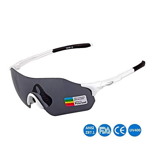Mmsww Ski-Brillen, Fahrradbrille Outdoor-Sportbrille Lässige Polarisierte Sonnenbrille Männliche Und Weibliche General Running Skilanglauf Angelgolf,C