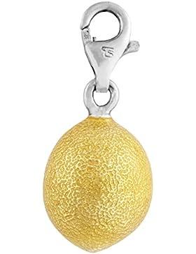 Thomas Sabo Zitrone Charm Anhänger Silber gelb emailliert 0452-007-4