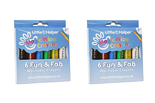 2 x Little Helper mwc01 – 6 – Buntstifte magischen waschbar, Vibrant mit Satin Finish – Stück 6 Farben