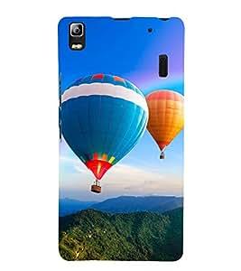 Hot Air Balloon 3D Hard Polycarbonate Designer Back Case Cover for Lenovo K3 Note :: Lenovo A7000 Turbo