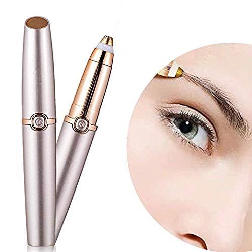 Augenbrauen Haarentferner, Milai Elektrische Augenbrauen Rasierer Trimmer Epilierer Für Frauen, Tragbare Perfekte Schmerzlose Augenbraue Rasierer Mit Licht (Batterie Nicht Enthalten) -