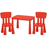 Ikea Mammut Lätt mesa infantil + 2sillas infantiles niños muebles mesa silla IK15de czer
