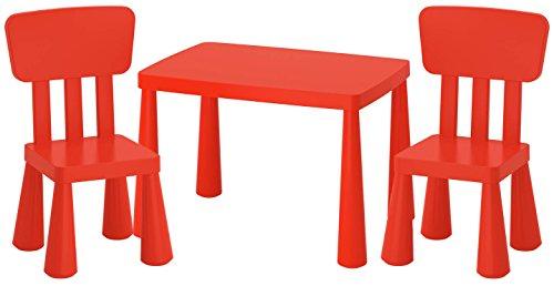tzgruppe Kindertisch +2 Kinderstühle Kindermöbel Tisch Stuhl IK15-CZER ()