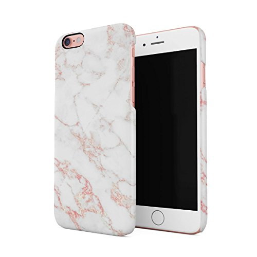 White & Rose Gold Strips Marble Print Hard Thin Plastic Phone Case Cover For iPhone 6 Plus & iPhone 6s Plus