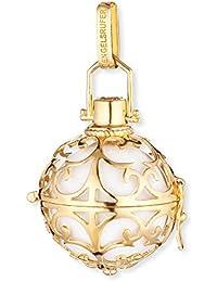 Engelsrufer Colgante clásico para Damas L 925 Plata Amarillo Oro Plateado con Campana Blanca