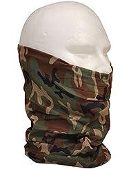"Tour de Cou Masque Cagoule 12 en 1 ""Woodland Camouflage"" Airsoft - Paintball - Moto - Ski - Snow - Surf - Outdoor"