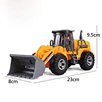 MinusK Remote controlled tractor Front loader Excavator, 1:32, Incl. Remote control module, metal / plastic, green, battery operated, compatible with attachments