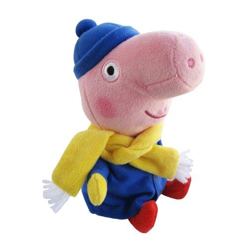 TY Beanie Babies Peppa Schwein George Winter UK-exklusiv