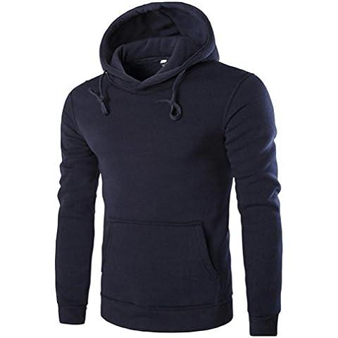 FAMILIZO Hombres Camiseta De Manga Larga Sudadera Con Capucha Blusa Tops Chaqueta Outwear Abrigo