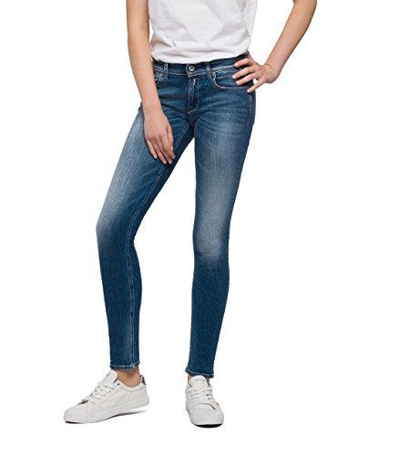 Replay Damen Skinny Jeans Luz Coin Zip, Blau (Denim 9), W27/L30