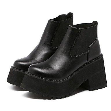 Wuyulunbi@ Scarpe Donna Autunno Inverno Bootie Stivali Chunky Tallone Punta Quadrata Scarpine/Stivaletti Di Abbigliamento Casual Nero,Black,Us8 / Eu39 / Uk6 / Cn39 US6 / EU36 / UK4 / CN36