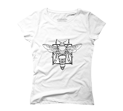 Bee Women's Graphic T-Shirt - Design By Humans White