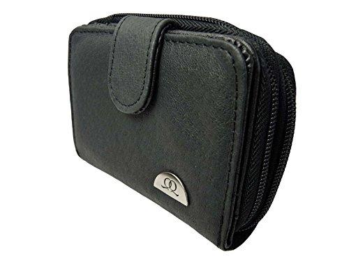 Quenchy London Q033M Ladies leather Purse, Porte-monnaie Femme noir