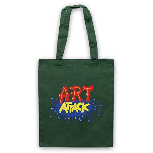 Inspiriert durch Art Attack Logo Inoffiziell Umhangetaschen Dunkelgrun