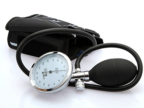 Gess Optimum Aneroid Analoge Manual Blutdruckmessgerät Oberarm Manschette Stetoskop
